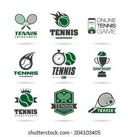Tennis icon set - 3 .