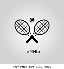 Tennis icon. Tennis symbol. Flat design. Stock - Vector illustration