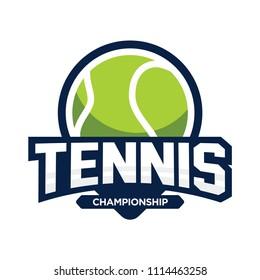 Tennis logo. Sport badge. Vector illustration.