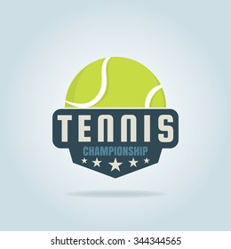 tennis logo,championship,tournament'decal,vector illustration