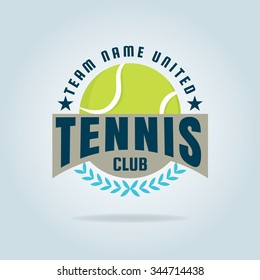 tennis logo,championship,tournament,decal,vector illustration