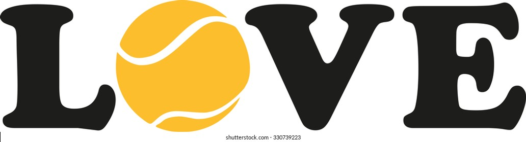 Tennis love with yellow ball