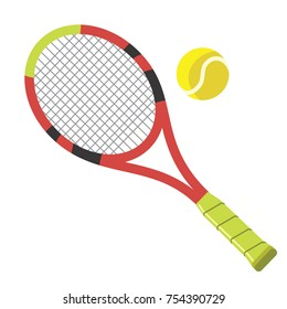 tennis racket and ball - ball is on a separate layer