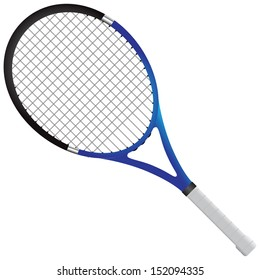Tennis racket - tennis gear for the game. Vector illustration.