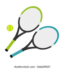 Tennis rackets, tennis rackets icon, sport. Flat design, vector illustration, vector.
