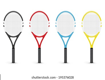 Tennis rackets, isolated on white background