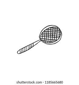 tennis racquet isolated on white background, vector illustration
