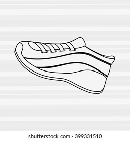 tennis shoes icon design