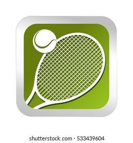 tennis sport emblem icon