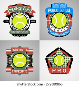 Tennis Sport label collection
