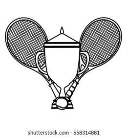 tennis sport trophy award