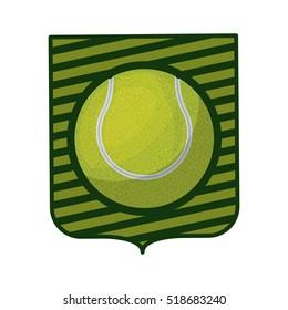 tennis tournament emblem with ball