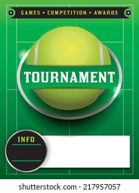 A tennis tournament illustration. Vector EPS 10. EPS file contains transparencies. Room for copy. Text has been converted to outlines.