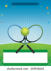 A tennis tournament illustration. Vector EPS 10. EPS file contains transparencies. Room for copy.