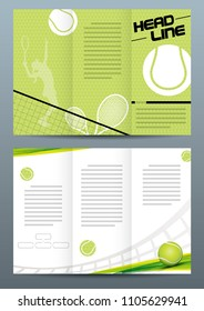 Tennis tri-fold brochure template