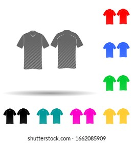 tennis-shirt multi color style icon. Simple glyph, flat vector of t-shirt icons for ui and ux, website or mobile application