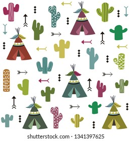 tent and cactus