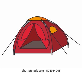tent camping isolated icon