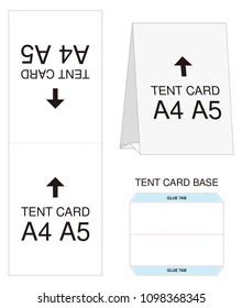 Blueprint paper stock vectors images vector art shutterstock tent card a4 a5 size mock up die cut malvernweather Images