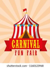 tent circus amusement retro carnival fun fair
