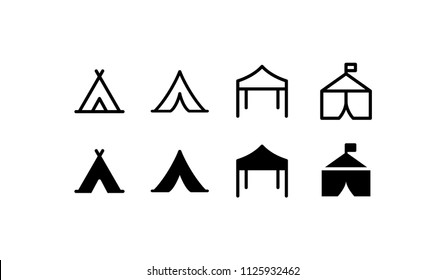 Tent Icon Design Vector Symbol Camp Travel Event