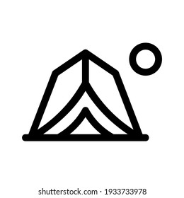 tent icon or logo isolated sign symbol vector illustration - high quality black style vector icons