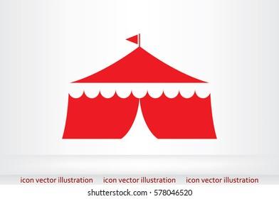 Tent icon vector illustration