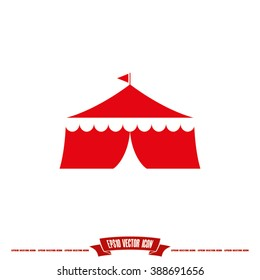 Tent icon vector illustration eps10.
