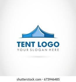 Tent Logo Template. Vector illustration Eps.10
