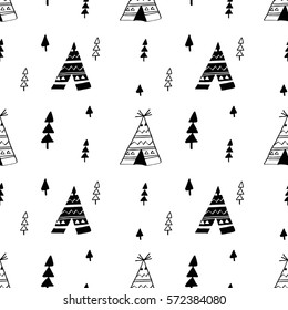 tent pattern illustration pattern for textile and other uses