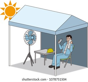 Tent for preventing heat stroke