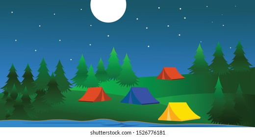 Tent for rest and tourism