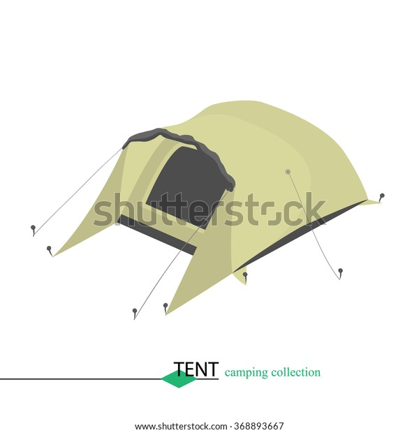 Tent Shelter Wind Rain Bad Weather Stock Vector (Royalty