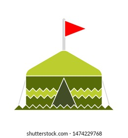 tent triangle icons. flat illustration of tent triangle vector icon. tent triangle sign symbol