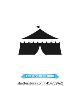 Tent vector icon.