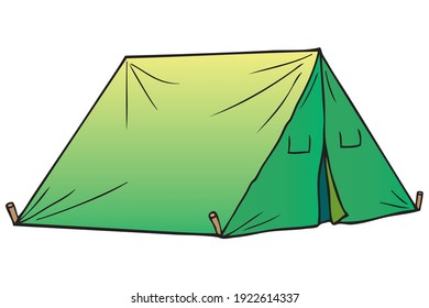Tent vector illustration, isolated on white background.top view