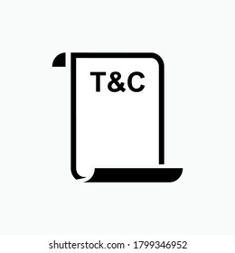 Terms & Conditions Icon. Agreement Document Symbol - Vector.