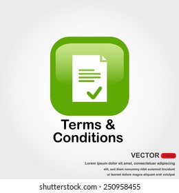 terms and conditions icon with white background