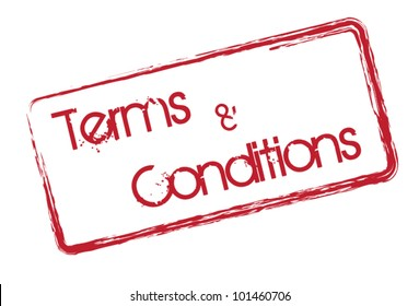 Terms and conditions text symbol on white background