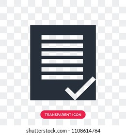 terms and conditions vector icon isolated on transparent background