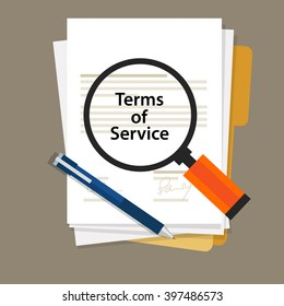 terms of service contract document signed