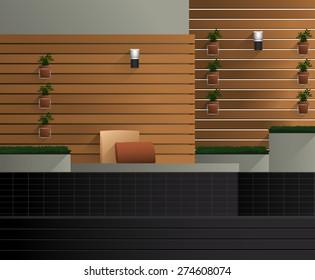 Terrace : Vector Illustration
