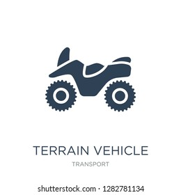 terrain vehicle icon vector on white background, terrain vehicle trendy filled icons from Transport collection, terrain vehicle vector illustration