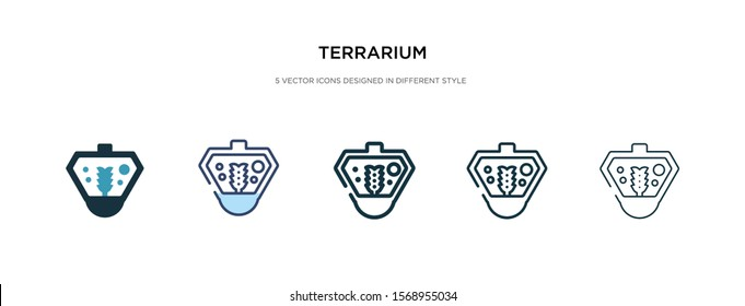 terrarium icon in different style vector illustration. two colored and black terrarium vector icons designed in filled, outline, line and stroke style can be used for web, mobile, ui