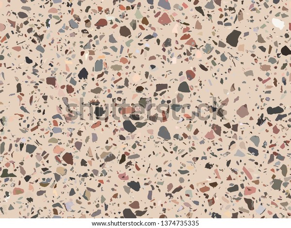 Terrazzo Flooring Texture Seamless Pattern Background