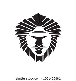 terrible black and white vector of the king of the jungle and cannibals