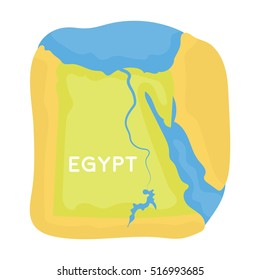 Territory of Egypt icon in cartoon style isolated on white background. Ancient Egypt symbol stock vector illustration.
