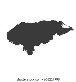 Territory of Honduras map vector. / Territory of Honduras map.