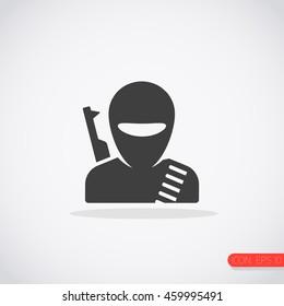 Terrorist icon. Attacker