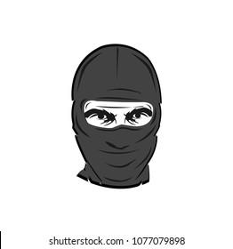Terrorist man with mask